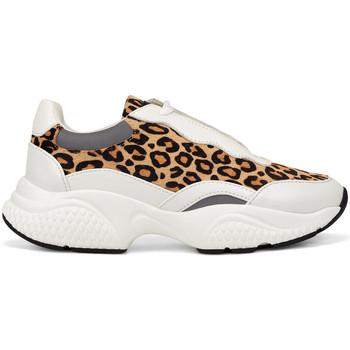 Schuhe Damen Sneaker Low Ed Hardy - Insert runner-wild white/leopard Weiss