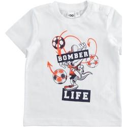 Kleidung Jungen T-Shirts Ido 42041 Weiß