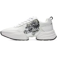 Schuhe Herren Sneaker Low Ed Hardy - Caged runner tiger white-black Weiss