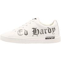 Schuhe Herren Sneaker Low Ed Hardy - Script low top white-gun metal Weiss