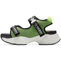 Schuhe Damen Sportliche Sandalen Ed Hardy - Aqua sandal green-black Grün