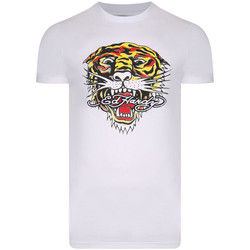 Kleidung Herren T-Shirts Ed Hardy - Tiger mouth graphic t-shirt white Weiss