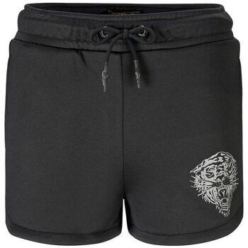 Kleidung Damen Shorts / Bermudas Ed Hardy - Tiger glow runner short black Schwarz