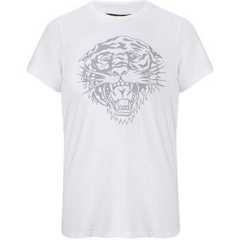 Kleidung Herren T-Shirts Ed Hardy - Tiger-glow t-shirt white Weiss