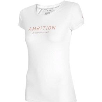 Kleidung Damen T-Shirts 4F TSD033 Weiß