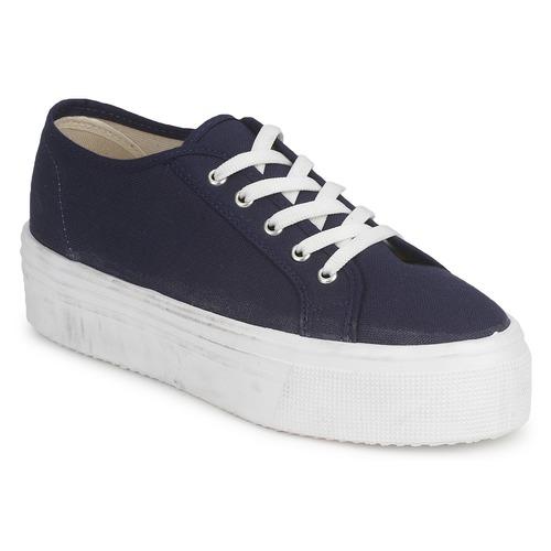Schuhe Damen Sneaker Low Yurban SUPERTELA Marine