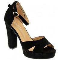 Schuhe Damen Sandalen / Sandaletten Nobrand ART 116 hoehe Absatz Multicolor