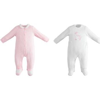 Kleidung Mädchen Kleider & Outfits Ido 42152 Weiß / Pink