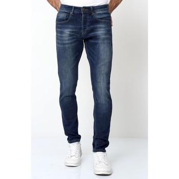 Kleidung Herren Slim Fit Jeans True Rise Hosen Blau