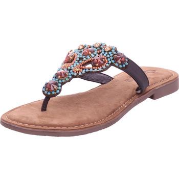 Schuhe Damen Zehensandalen Queens - 8297 braun
