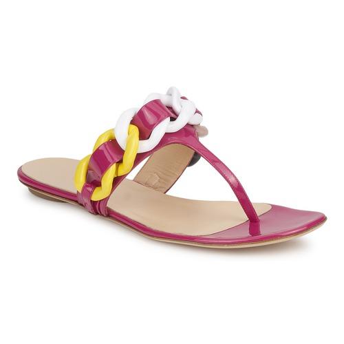 Schuhe Damen Zehensandalen Versus by Versace FSD364C Rose / Weiss / Gelb