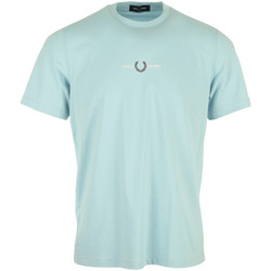 Kleidung Herren T-Shirts Fred Perry Embroidered T-Shirt Blau