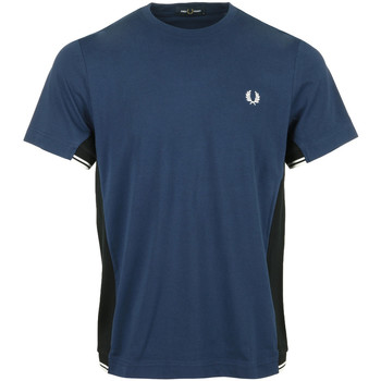 Kleidung Herren T-Shirts Fred Perry Twin Tipped Panel T-Shirt Blau
