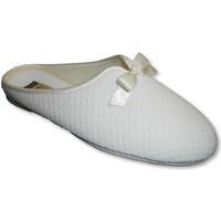 Schuhe Damen Hausschuhe Calzamur Sandalen mit Zehensatinschleife oben ges Beige
