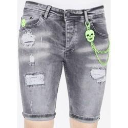 Kleidung Herren Shorts / Bermudas Local Fanatic Kurze Jeanshosen Für Grau