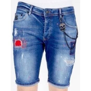 Kleidung Herren Shorts / Bermudas Local Fanatic Jeanshose Kurz Blau