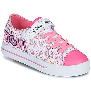 Schuhe Kinder Rollschuhe Heelys Snazzy Weiss / Rose / Lavendel