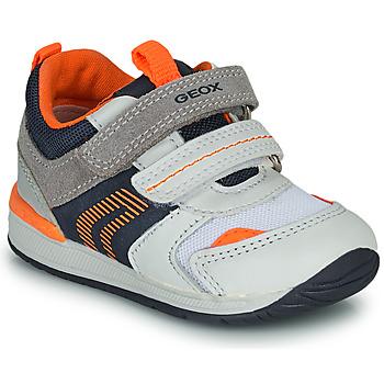 Schuhe Jungen Sneaker Low Geox B RISHON Weiss