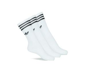 Unterwäsche Strümpfe adidas Originals SOLID CREW SOCK X3 Weiss