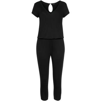 Kleidung Damen Overalls / Latzhosen Lascana Jersey Hosenanzug Perlschwarz