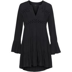 Kleidung Damen Kurze Kleider Lascana Sommer-Tunika-Bluse Lola Perlschwarz