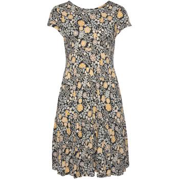 Kleidung Damen Kleider Lascana Ranunkel Kurzarm fließendes Sommerkleid Elfenbein
