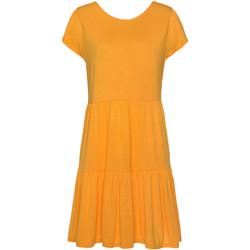 Kleidung Damen Kleider Lascana Ranunkel Kurzarm-Sommerkleid Khaki