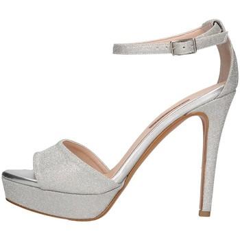 Schuhe Damen Sandalen / Sandaletten Albano 4047 Sandelholz Frau Silber Silber