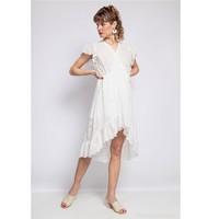 Kleidung Damen Kurze Kleider Fashion brands U5233-BLANC Weiss