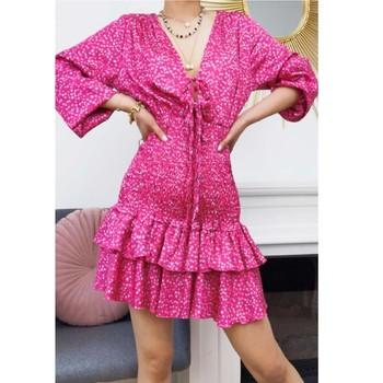 Kleidung Damen Kurze Kleider Fashion brands 22974-FUSHIA Rose
