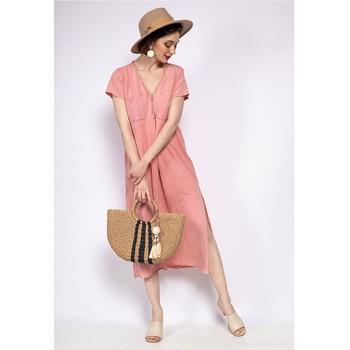 Kleidung Damen Maxikleider Fashion brands 6658-CORAIL Korallenrot