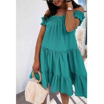 Kleidung Damen Kurze Kleider Fashion brands R5119-VERT-D-EAU Grün / Wasserfarben