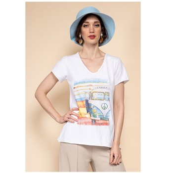 Kleidung Damen Tops / Blusen Fashion brands 8301-COMBI-SKY-BLUE Blau