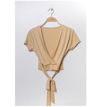 Kleidung Damen Tops / Blusen Fashion brands FR029T-BEIGE Beige