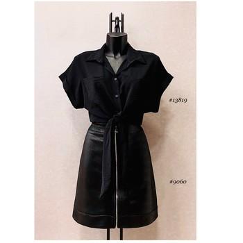 Kleidung Damen Tops / Blusen Fashion brands ERMD-13819-N-BLACK Schwarz
