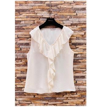 Kleidung Damen Tops / Blusen Fashion brands ERMD-13797-CP-BLANC Weiss