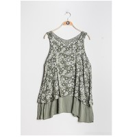 Kleidung Damen Tops / Blusen Fashion brands 9673-KAKI Kaki