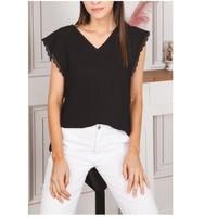 Kleidung Damen Tops / Blusen Fashion brands F2106-BLACK Schwarz