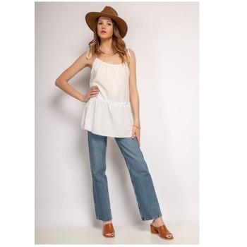 Kleidung Damen Tops / Blusen Fashion brands 490-WHITE Weiss