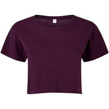 Kleidung Damen Tops / Blusen Tridri TR019 Maulbeeren-Rot