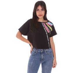 Kleidung Damen T-Shirts Ea7 Emporio Armani 3KTT40 TJ39Z Schwarz