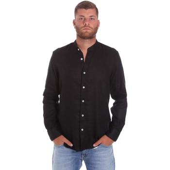 Kleidung Herren Langärmelige Hemden Refrigiwear RM0C10100LI9110 Schwarz