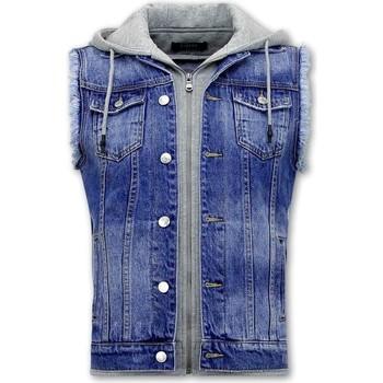 Kleidung Herren Jeansjacken Enos Jeansweste Für RJ Blau
