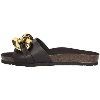 Schuhe Damen Pantoffel Frau 17m6 verdrängt  Schwarz Schwarz