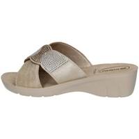 Schuhe Damen Pantoffel Inblu NF 21 Silbern
