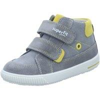 Schuhe Jungen Boots Superfit Klettschuhe -gelb 1-000350-2500 Moppy grau
