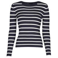Kleidung Damen Pullover Only ONLNATALIA Marine / Weiss