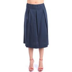 Kleidung Damen Röcke Anna Seravalli S1147A Bis zum Knie Damen Blau