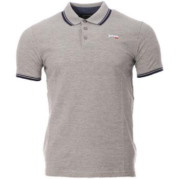 Kleidung Herren Polohemden Schott PSBRYAN21 Grau