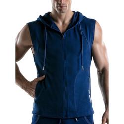 Kleidung Herren Trainingsjacken Code 22 Force Kapuzenjacke ohne Ärmel Code22 Blau Marine